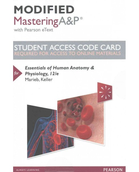 Essentials of Human Anatomy & Physiology Modified Masteringa&p Access Code : With Pearson Etext - image 1 of 1