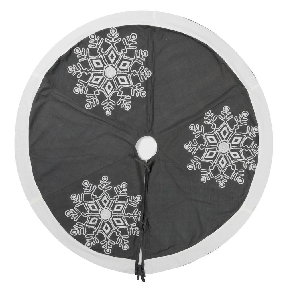 "Image of ""Vickerman 60"""" Winter Snowflake Tree Skirt"""