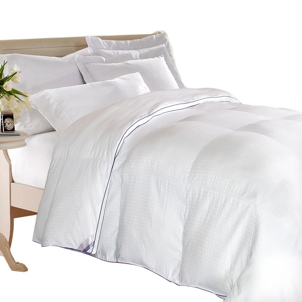 Swiss Dot Down Alternative Comforter (Twin) White - Kathy Ireland