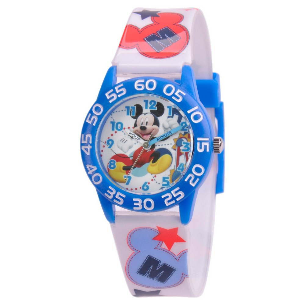 Boys' Disney Mickey Mouse Plastic Watch, Multi-Colored