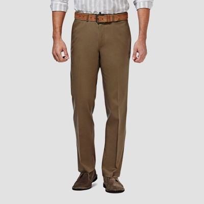 Haggar Men's Premium No Iron Straight Fit Flat Front Casual Pants