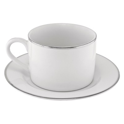 10 Strawberry Street Gold Line Cup/Saucer 6oz Set of 4