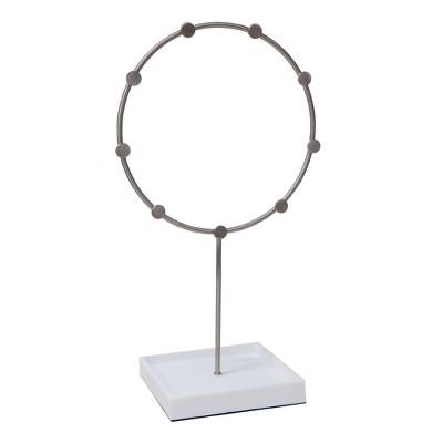 Circle Jewelry Stand White/Brushed Nickel - 88 Main®