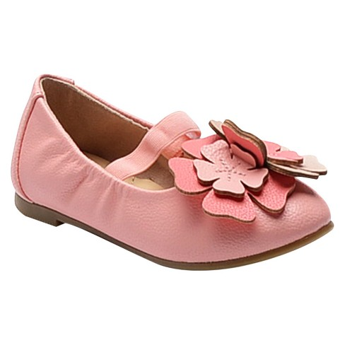 Toddler Girls' Carrie Cinched Topline Flower Ballet Flats Cat & Jack™ - Pink 11 - image 1 of 2