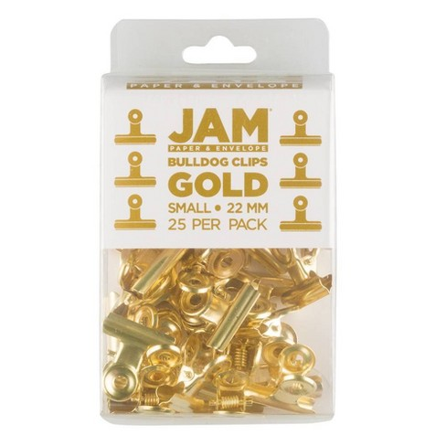 JAM Paper 22mm 25pk Metal Bulldog Clips - Small