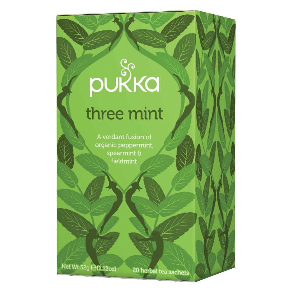Pukka Three Mint Tea Bags - 20ct