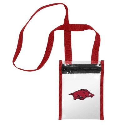 NCAA Arkansas Razorbacks Clear Crossbody Messenger Bag
