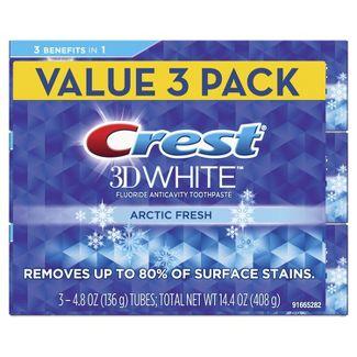 Crest 3D White Whitening Toothpaste Arctic Fresh - 4.1oz/3pk