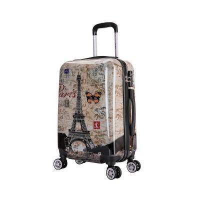 "InUSA 20"" Lightweight Hardside Carry On Spinner Suitcase - Paris"