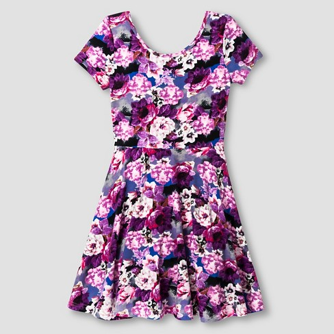 Girls' Skater Dresses Purple Say What? S (6-6X) - image 1 of 2