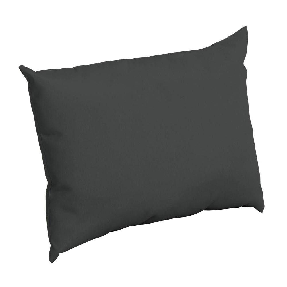 Arden Selections Outdoor Pillow Back Slate Gray Acrylic