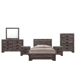 6pc Grayson Panel Bedroom Set Gray Oak - Picket House Furnishings