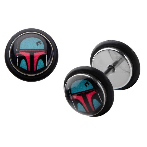 Star Wars Boba Fett Stainless Steel Screw Back Earrings - image 1 of 1
