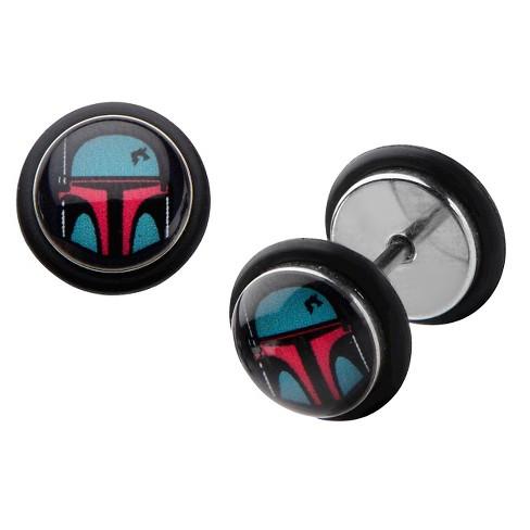 Star Wars Boba Fett Stainless Steel Screw Back Earrings - image 1 of 1