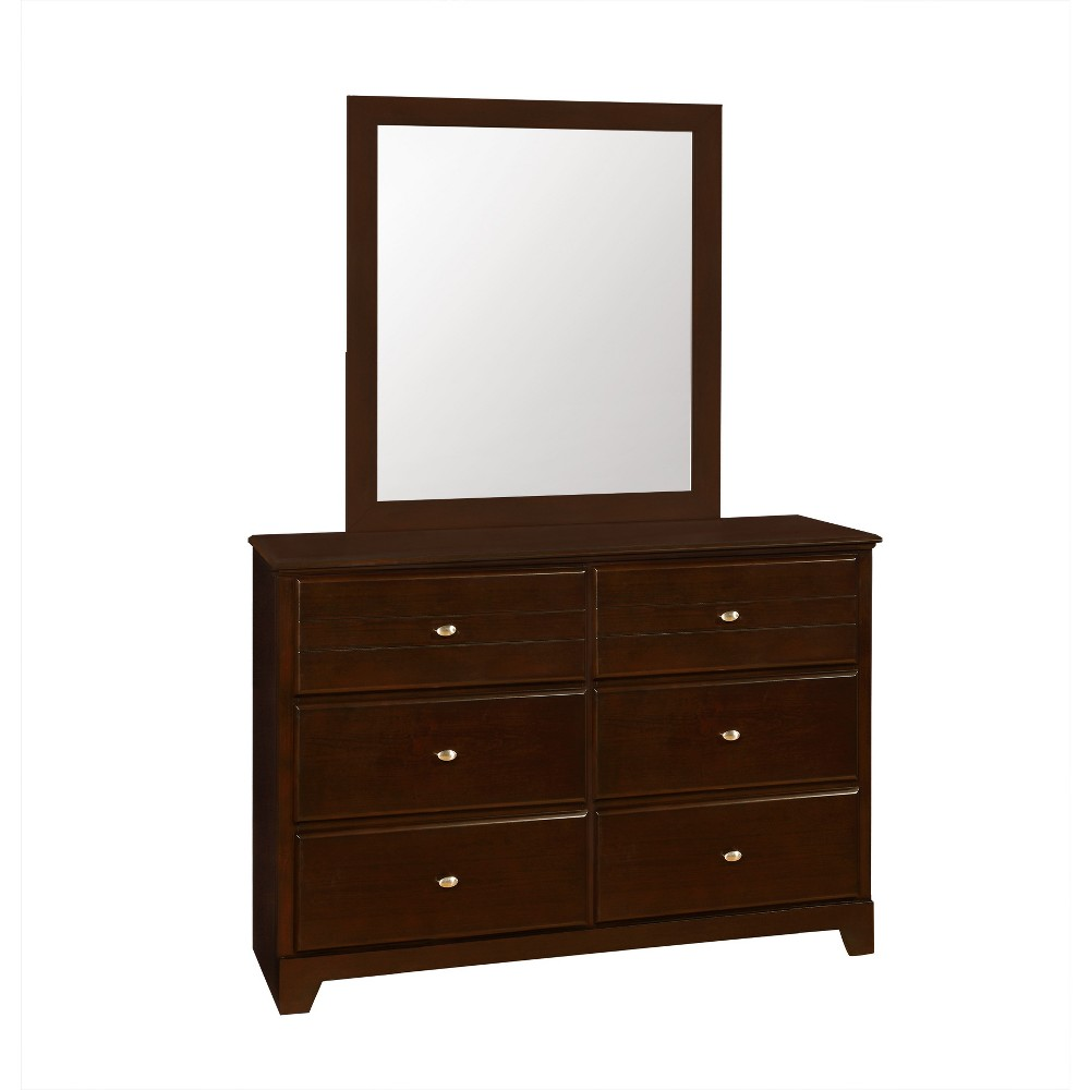 Image of Carrington 6 Drawer Dresser Cappuccino - Private Reserve, Brown