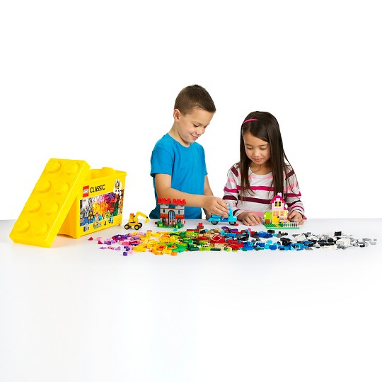 LEGO Classic Large Creative Brick Box 10698 Build Your Own Creative Toys, Kids Building Kit image number null