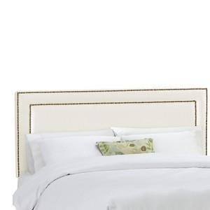 Twin Fremont Nail Button Border Headboard Shantung Parchment - Skyline Furniture