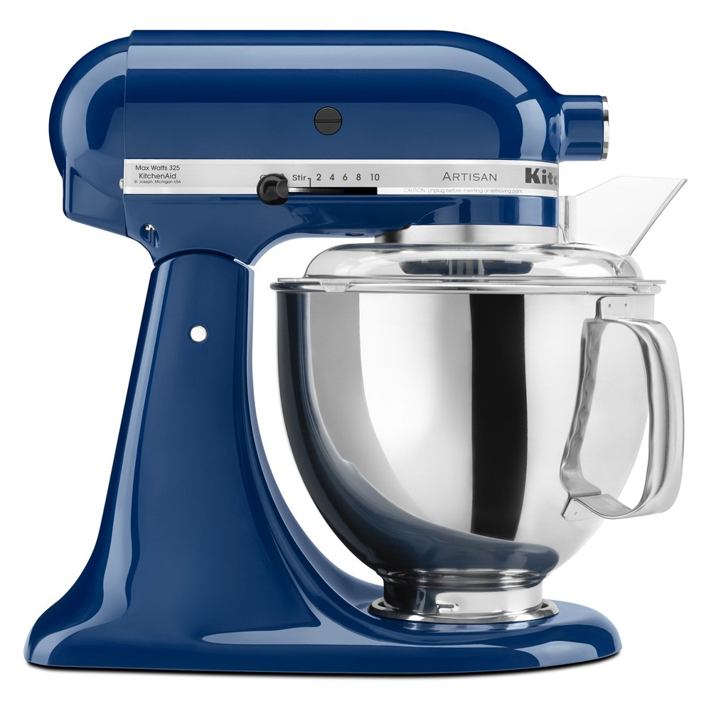 KitchenAid Refurbished Artisan Series Stand Mixer – Blue Willow RRK150BW, Dark Blue 53499036