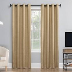 """50""""x95"""" Evie Medallion Jacquard Extreme 100% Blackout Grommet Curtain Panel Beige/Linen - Sun Zero"""