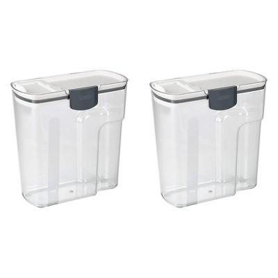 PrepWorks Progressive 4.5-Quart Plastic Cereal Keeper Container, Clear (2 Pack)