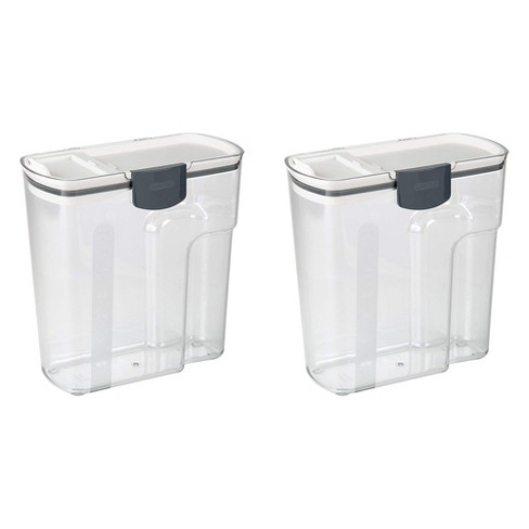 PrepWorks Progressive 4.5-Quart Plastic Cereal Keeper Container, Clear (2 Pack) - image 1 of 4
