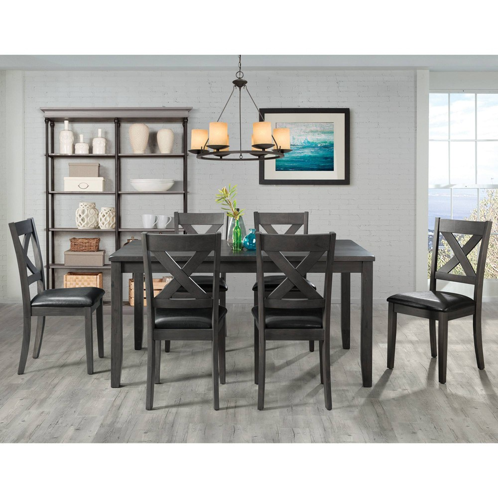 7pc Alexa Standard Height Dining Set Gray - Picket House Furnishings