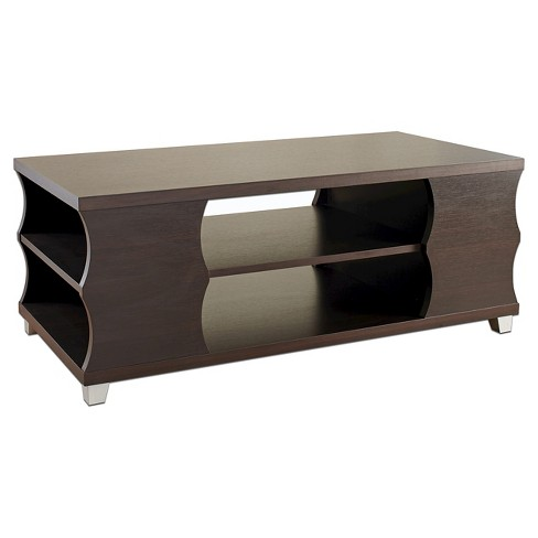 Roselia Elegant Curvy Panel Coffee Table Espresso - HOMES: Inside + Out - image 1 of 4