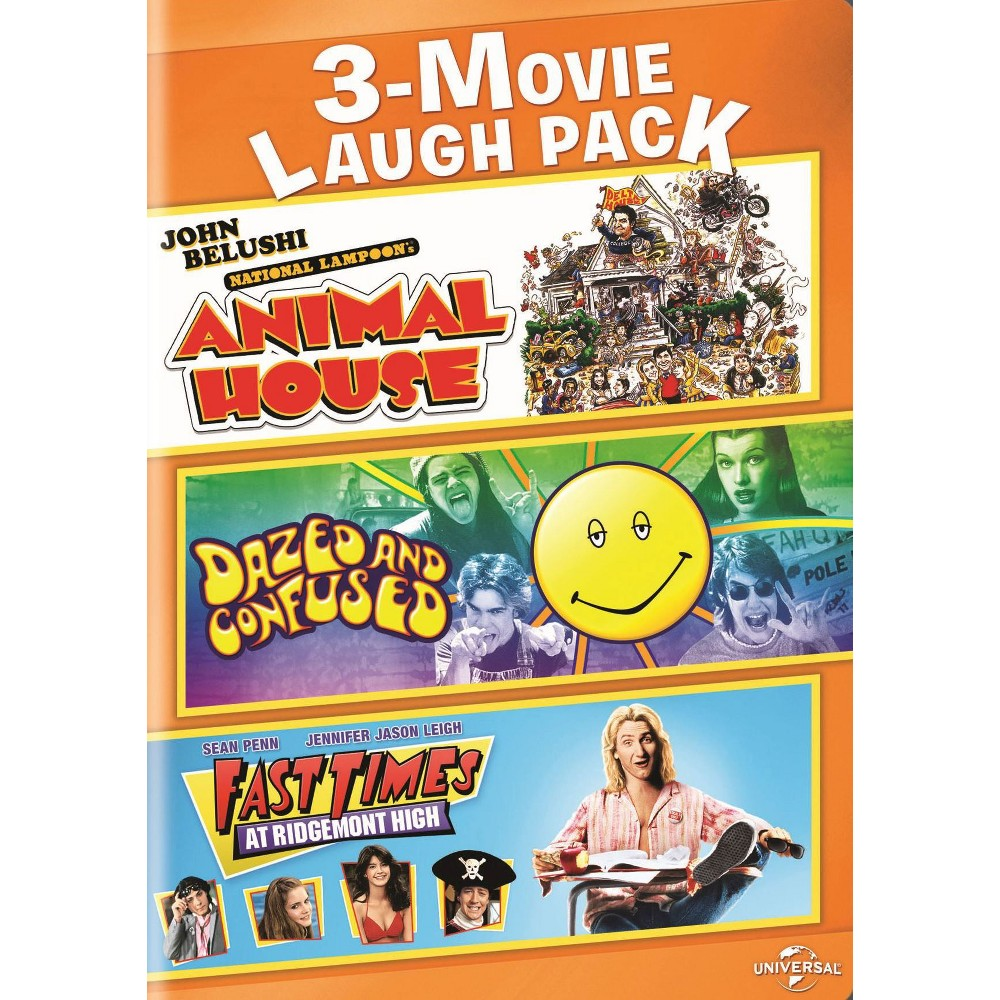 3-Movie Laugh Pack: Animal House/Dazed and Confused/Fast Times at Ridgemont High (2 Discs) (dvd_video)