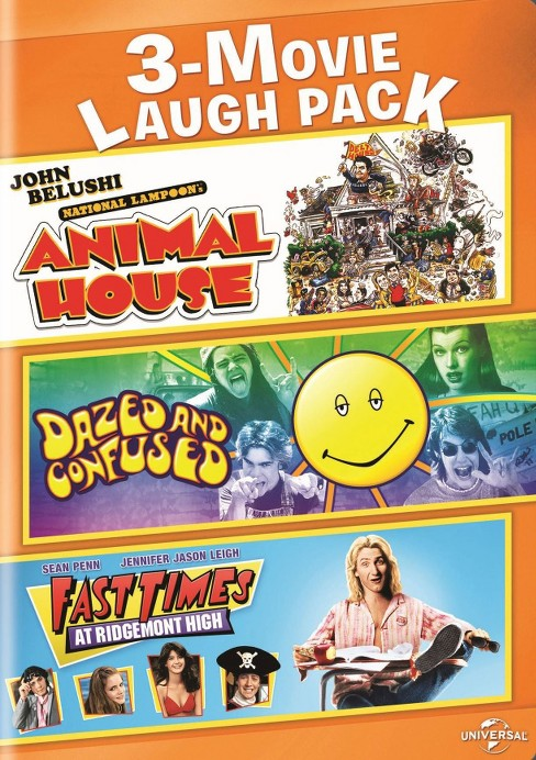 3-Movie Laugh Pack: Animal House/Dazed and Confused/Fast Times at Ridgemont High (2 Discs) (dvd_video) - image 1 of 1
