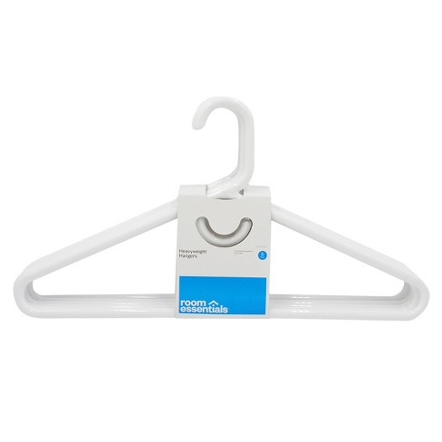RE Super Heavyweight Plastic Hanger - 5 Pk - White - Room Essentials™ - image 1 of 1