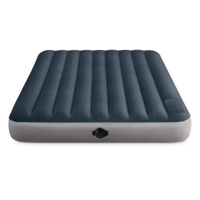 "Intex 10"" Queen Size Air Mattress with 2-Step AA Battery Inflation Pump System"