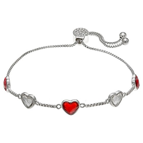 Women s Adjustable Bracelet With Red And Clear Swarovski® Crystal ... 9c7415ee2
