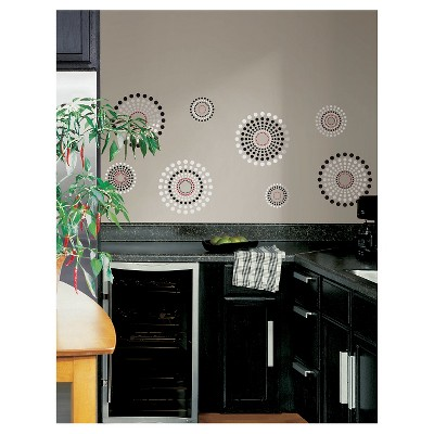 20 FUSION Peel and Stick Wall Decal Black - ROOMMATES