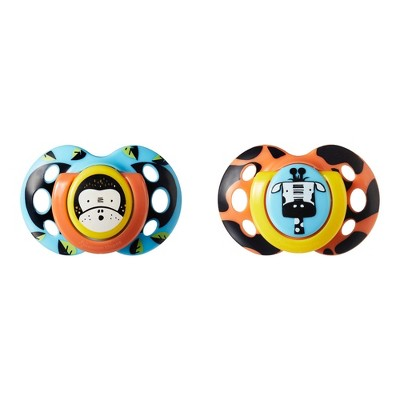 Tommee Tippee Closer to Nature 2pk Fun Style Toddler Pacifier - 18-36 Months