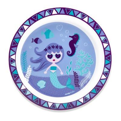 Cheeky Plastic Kids Plate 8.3  Mermaid - Purple