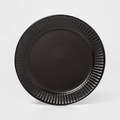 "8.8"" Stoneware Harrison Salad Plate Black - Threshold™"