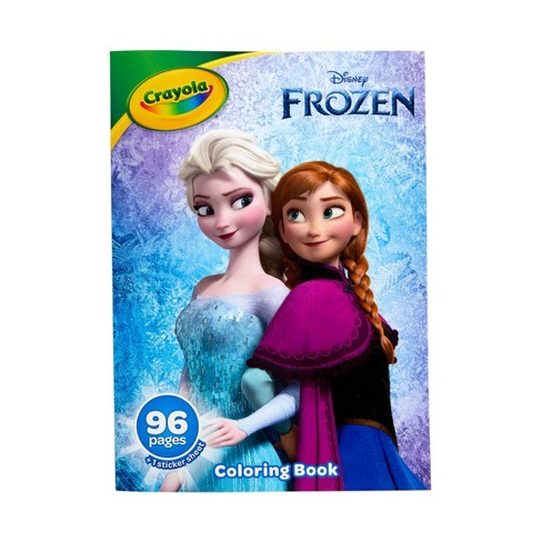 Crayola 96pg Disney Frozen Coloring Book With Sticker Sheet Target
