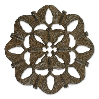 Cast Iron Butterfly Design Stepping Stone - Zingz & Thingz