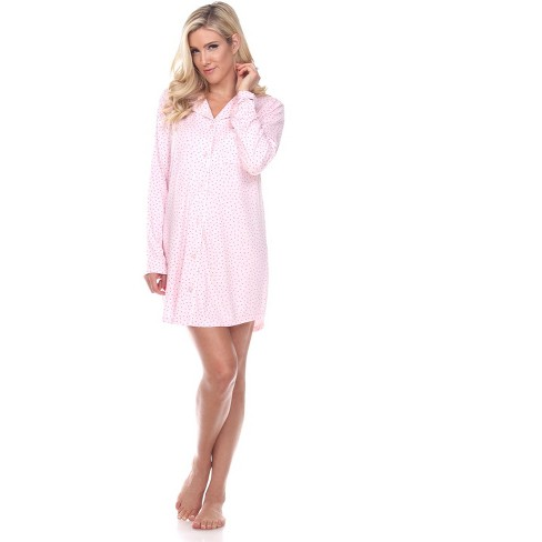 Women's Long Sleeve Nightgown - White Mark - image 1 of 3