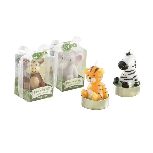 4ct 'Born to be Wild' Animal Candles in Gift Packaging - image 1 of 4