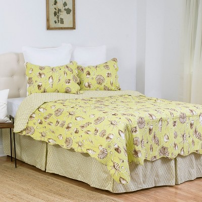 C&F Home Calypso Shells Queen Bed Skirt Drop Length: 18 inches