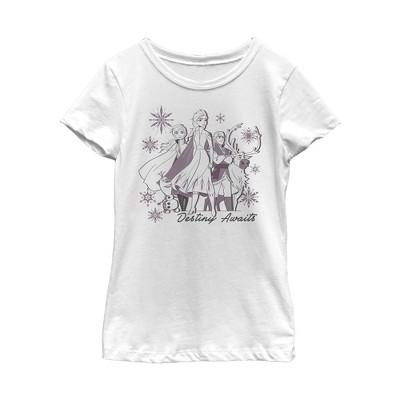 Girl's Frozen 2 Elsa Believe Watercolor T-Shirt