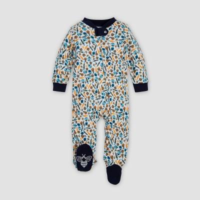 Burt's Bees Baby® Baby Boys' Harvest Veggies Organic Cotton Sleep N' Play Union Suit - Blue Newborn