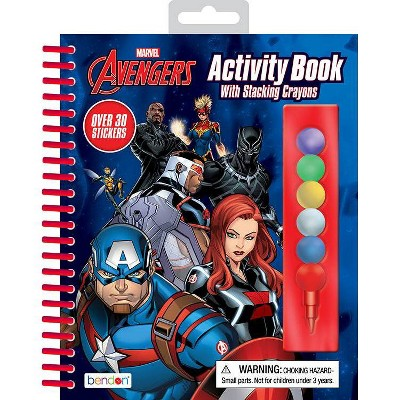 Avengers Activity Book with Stacking Crayons