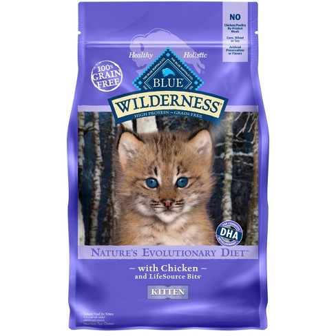 Blue Buffalo Wilderness 100% Grain-Free Chicken Kitten Dry Cat Food - image 1 of 4