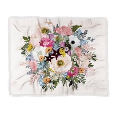 Iveta Abolina Eloise Crepe Woven Throw Blanket Pink - Deny Designs