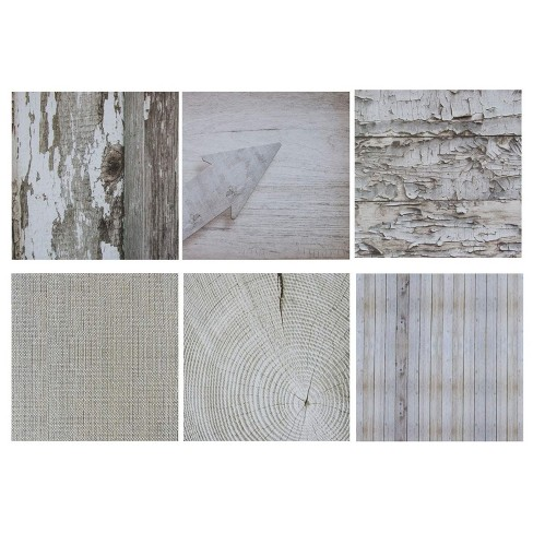 Sustainable Greetings Rustic Wood Scrapbook Paper, 6 Designs (12 x 12 Inches, 48 Sheets) - image 1 of 4