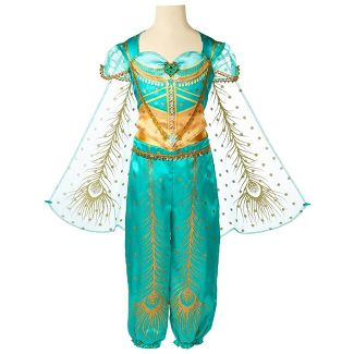 Disney Aladdin Girls Jasmine Core Teal Dress
