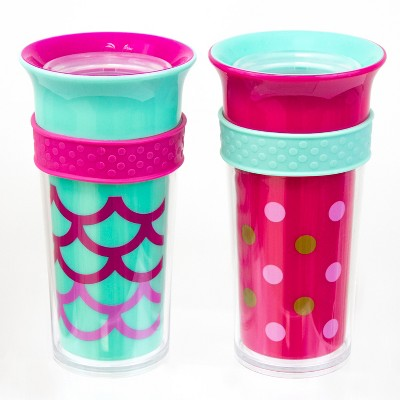 Sassy Tritan & Poly Insulated 9oz Cup - Pink (2pk)