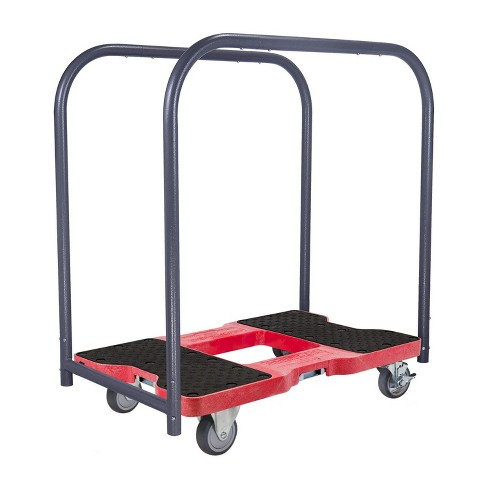 Snap Loc 1,200 lb Capacity General Purpose E Track Panel Cart Dolly Red, Heavy Duty 4 in Thermoplastic Swivel Non Marking Caster Wheels - image 1 of 4